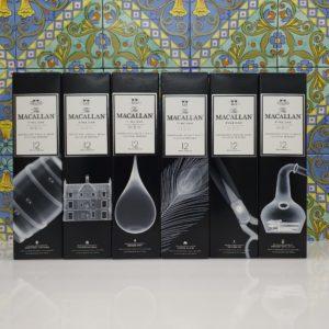 Serie Completa Whisky Macallan X-Ray 12 y.o. Fine Oak  Triple cask  6 x 70 cl vol 40 %