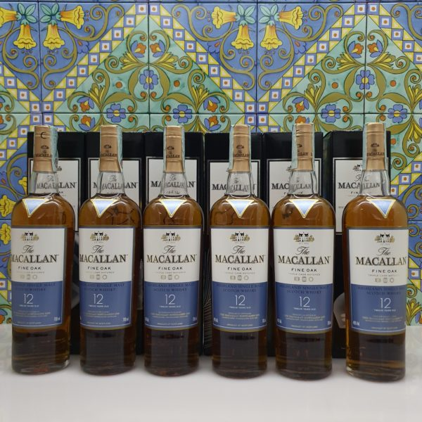 Serie Completa Whisky Macallan X-Ray 12 y.o. Fine Oak  Triple cask  6 x 70 cl vol 40 %