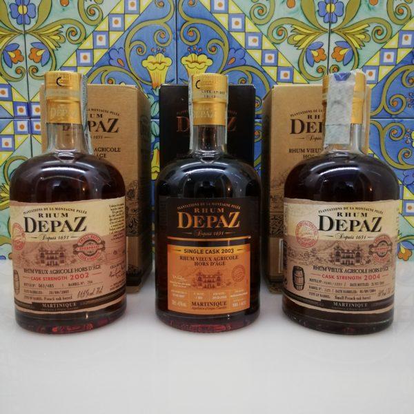 Rum Rhum Depaz Collection 2002-2003-2004 Vieux Agricole 3×70 cl