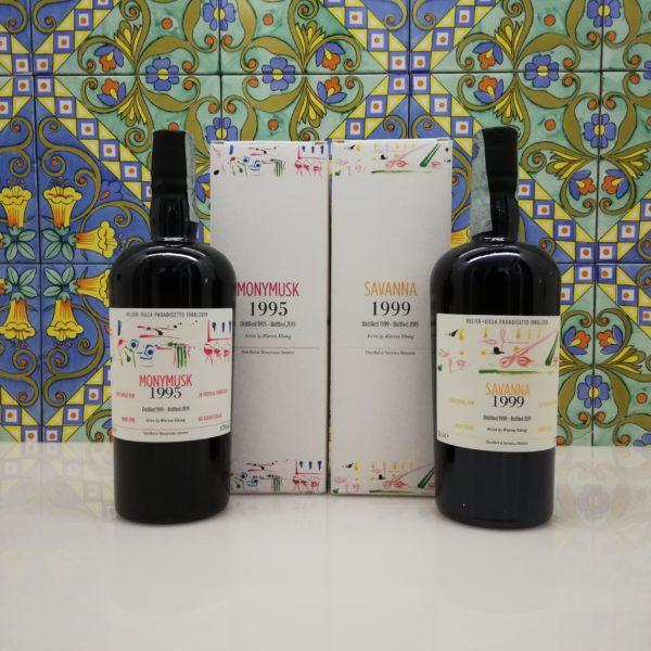 Rum Villa Paradisetto Velier 1st Release – Monymusk 1995 – Savanna 1999 – 2x70cl