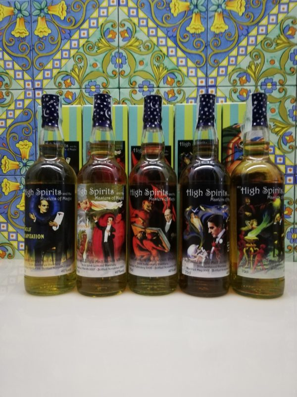 Whisky Release  Masters Of Magic / High Spirits 5x 70 cl