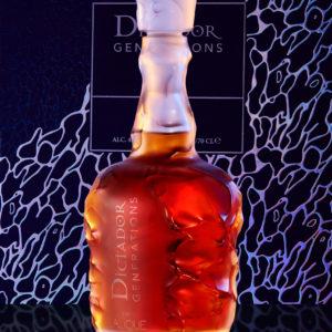 Rum Dictador Generations En Lalique 1976 vol 43%. cl 70