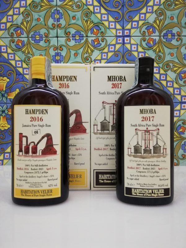 Rum Habitation Hampden 2016 – Mhoba 2017  Velier 2x 70 cl