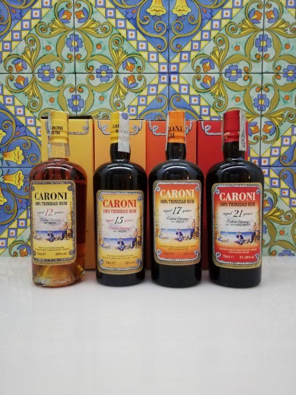 Rum Caroni full set 12-15-17-21 Velier 4x cl 70