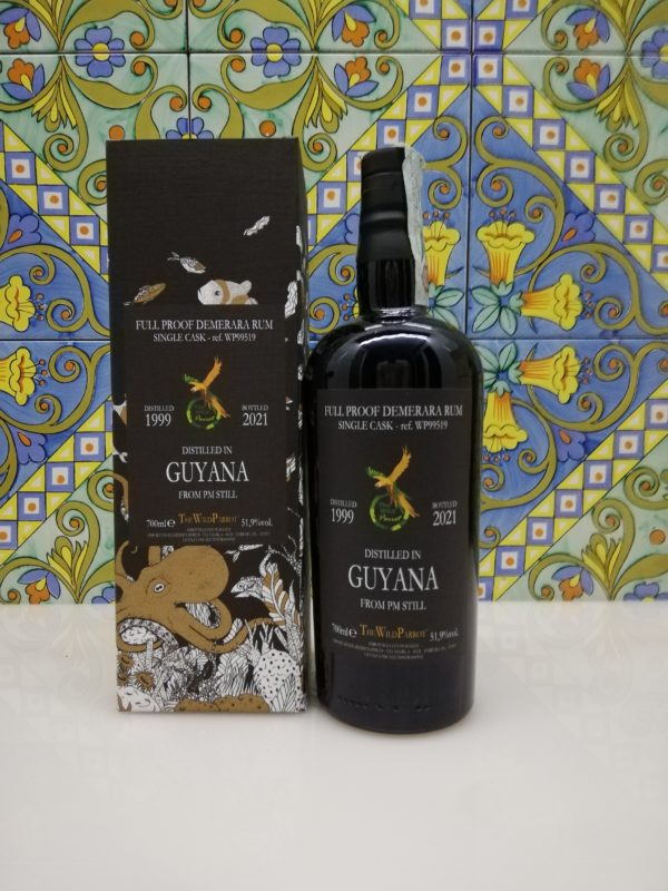 Rum Guyana 1999/2021 Single Cask The Wild Parrot cl 70 vol 51.9%