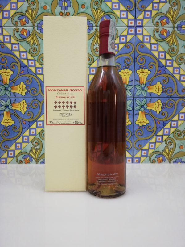 Capovilla Distillato di Vino Montanar Rosso Riserva Velier 10 y.o. cl 70 vol 45